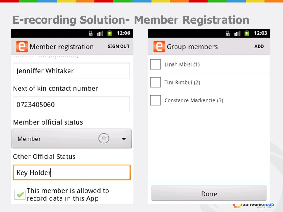 E-recording Solution- Member Registration