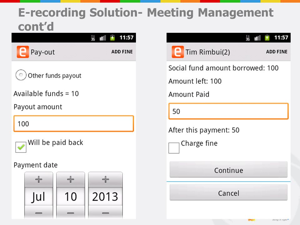 E-recording Solution- Meeting Management cont'd