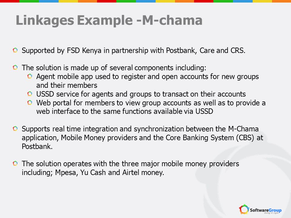 Linkages Example -M-chama