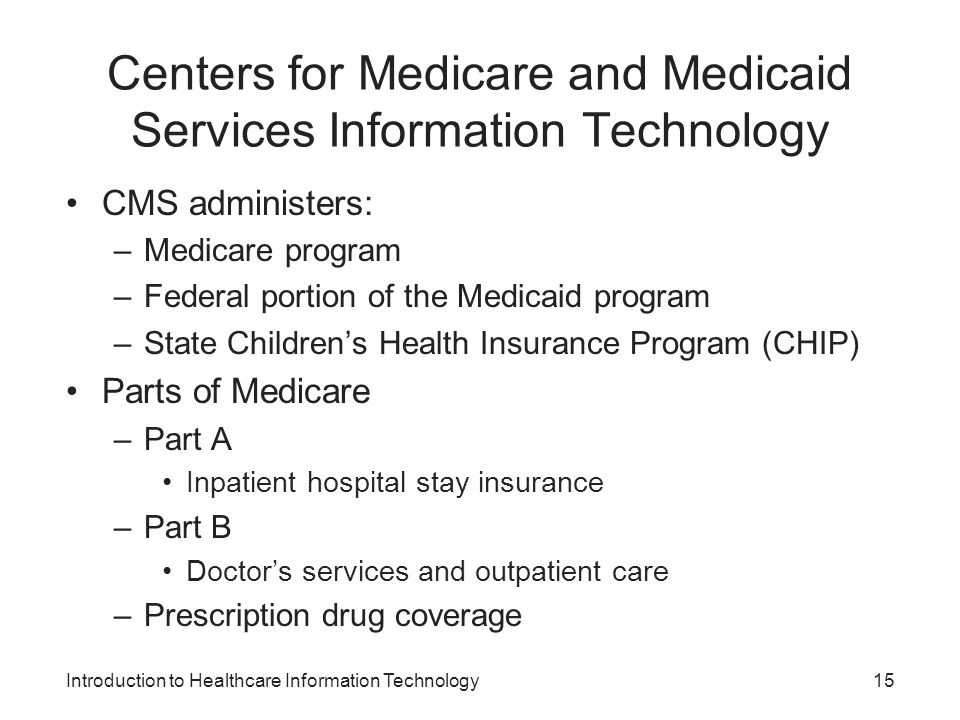 Centers for Medicare and Medicaid Services Information Technology