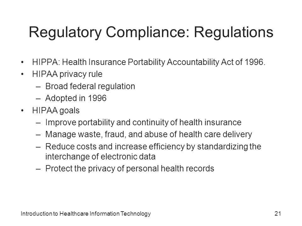 hippa regulatory paper September 02, 2016 - maintaining hipaa compliance and numerous data privacy and security mandates is of paramount importance for healthcare organizations since hipaa is not a one-size-fits-all regulatory regime, best practices for data privacy and security programs demand attention to the specific.