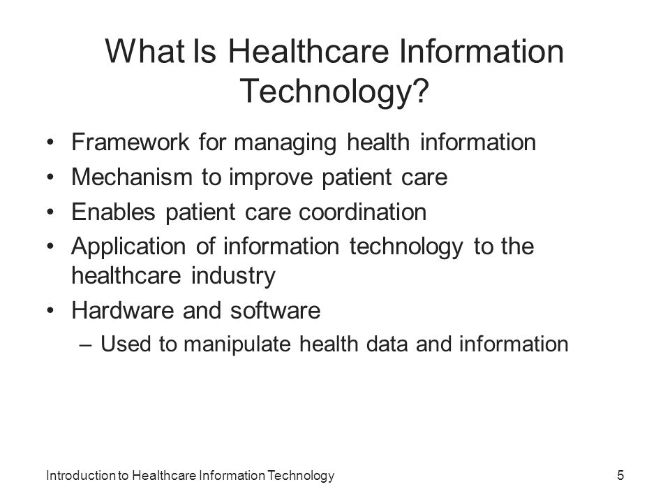 What Is Healthcare Information Technology