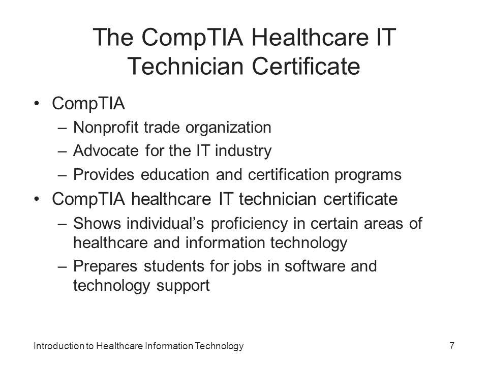 The CompTIA Healthcare IT Technician Certificate