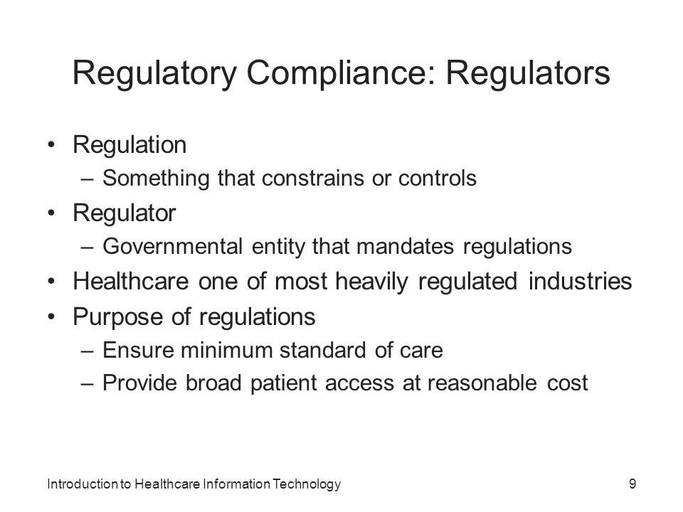 Regulatory Compliance: Regulators
