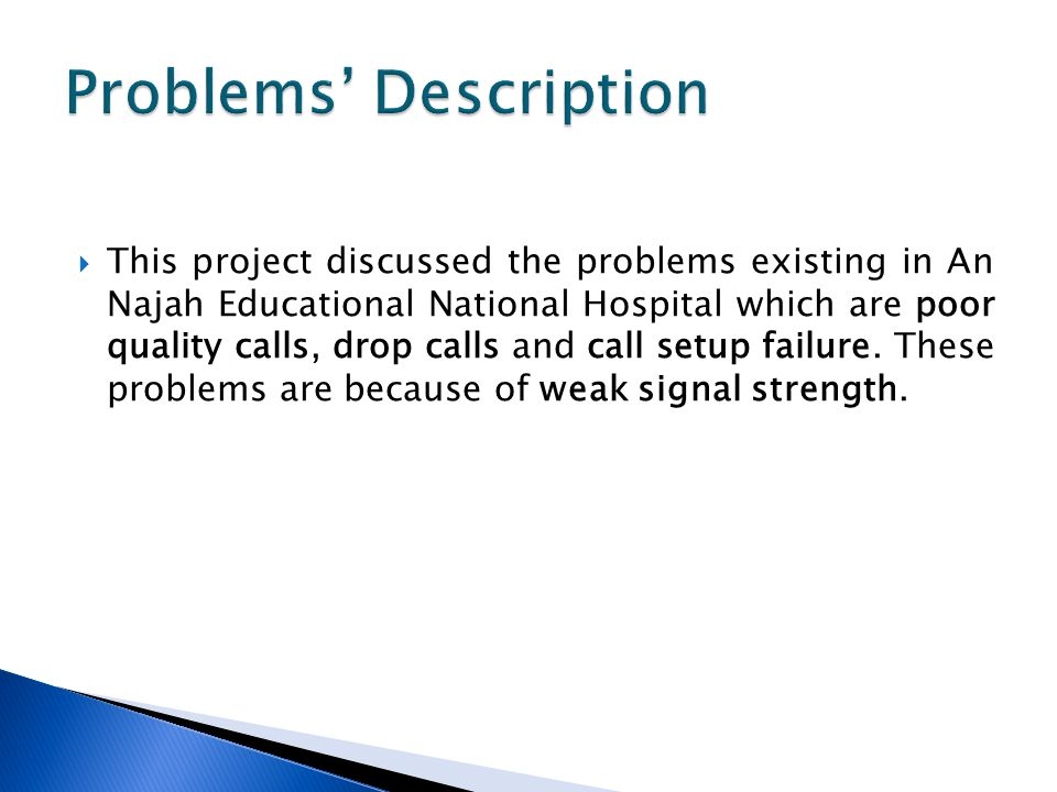 Problems' Description