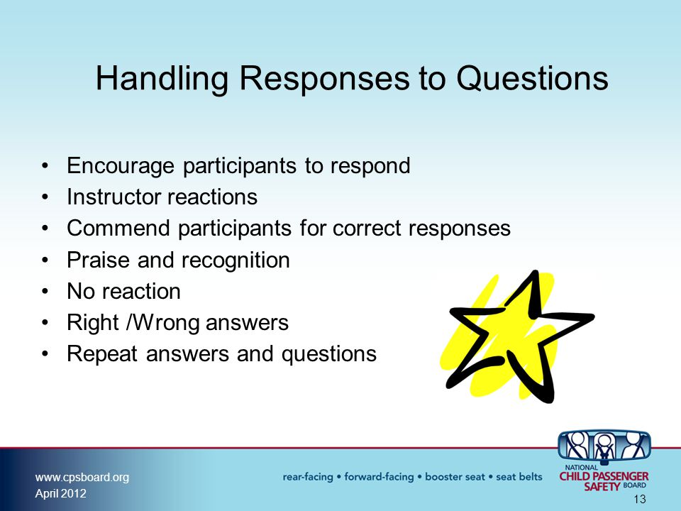 Handling Responses to Questions