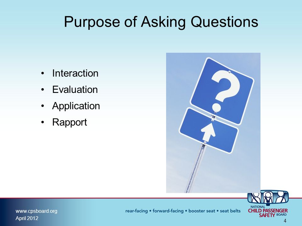 Purpose of Asking Questions