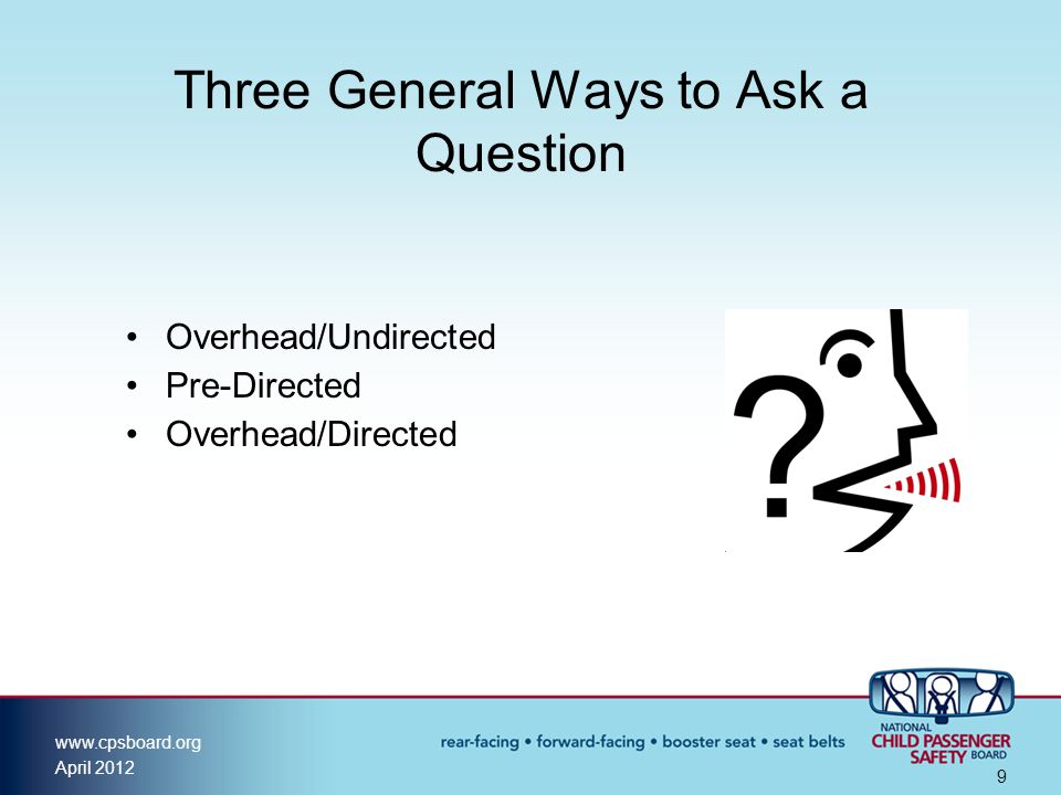 Three General Ways to Ask a Question