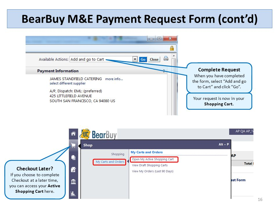 The Meeting And Entertainment ME Payment Request Form  Ppt