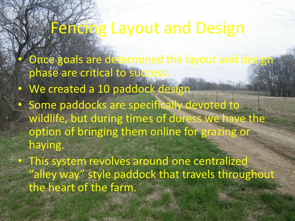 Fencing Layout and Design