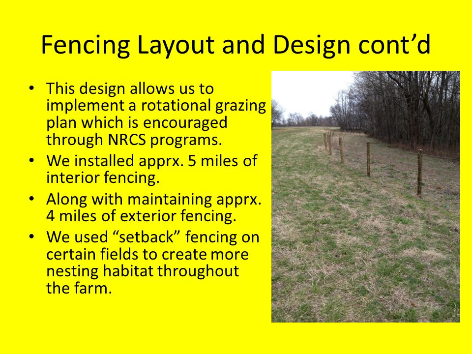 Fencing Layout and Design cont'd