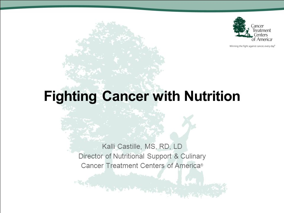 Fighting Cancer with Nutrition