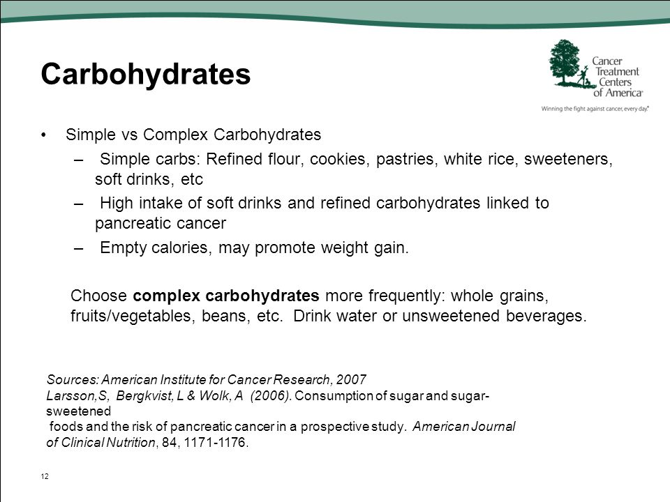 Carbohydrates Simple vs Complex Carbohydrates