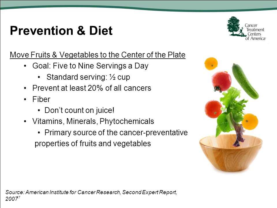 Prevention & Diet Move Fruits & Vegetables to the Center of the Plate