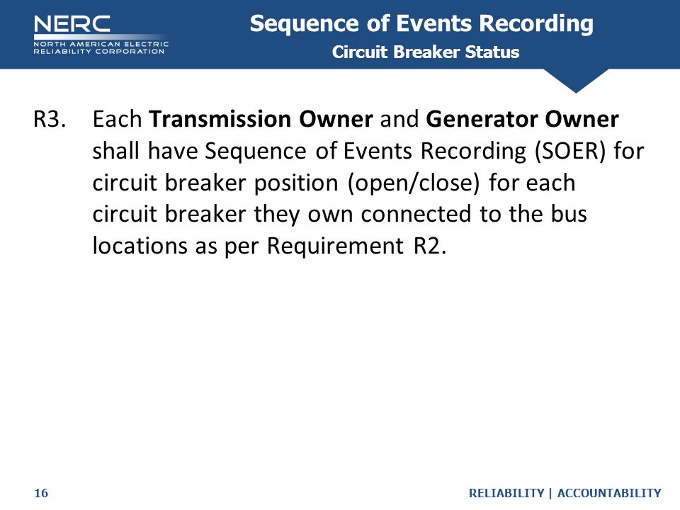 Sequence of Events Recording Circuit Breaker Status