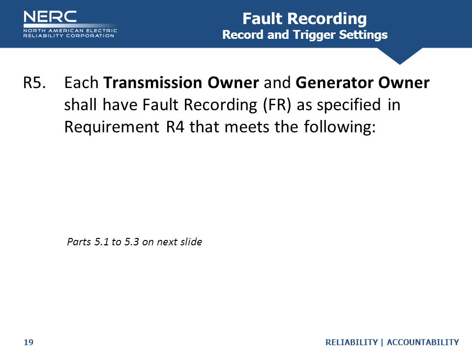 Fault Recording Record and Trigger Settings