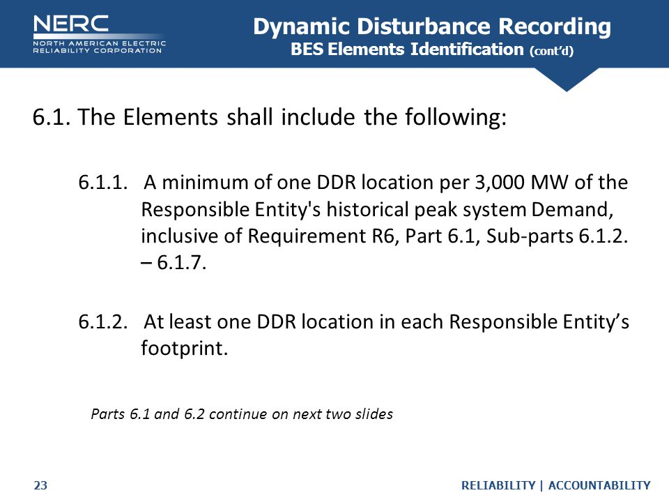 Dynamic Disturbance Recording BES Elements Identification (cont'd)