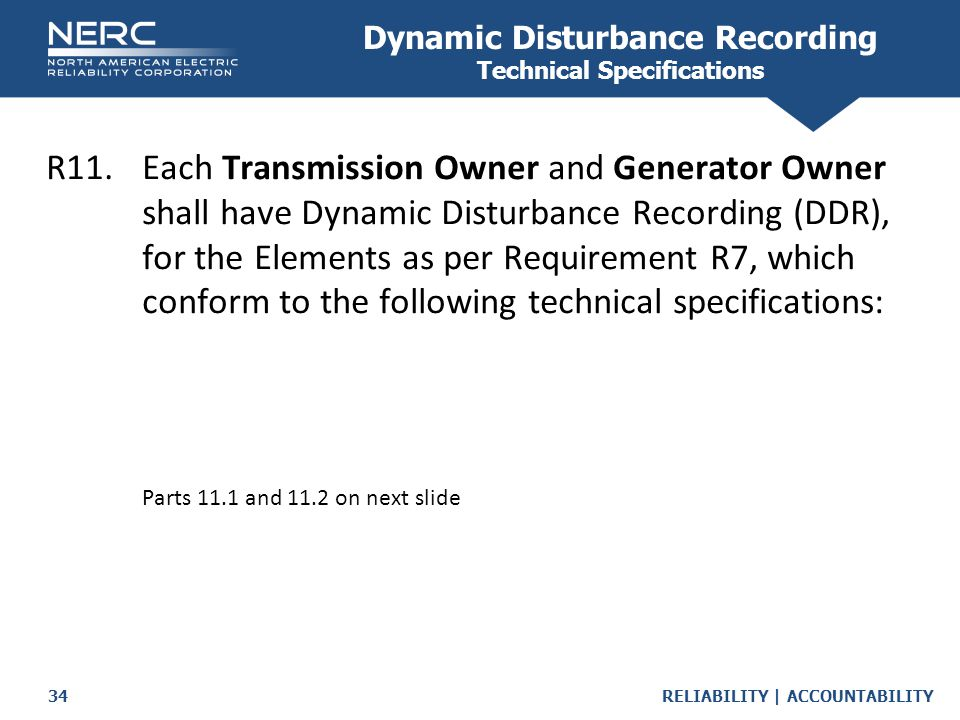 Dynamic Disturbance Recording Technical Specifications