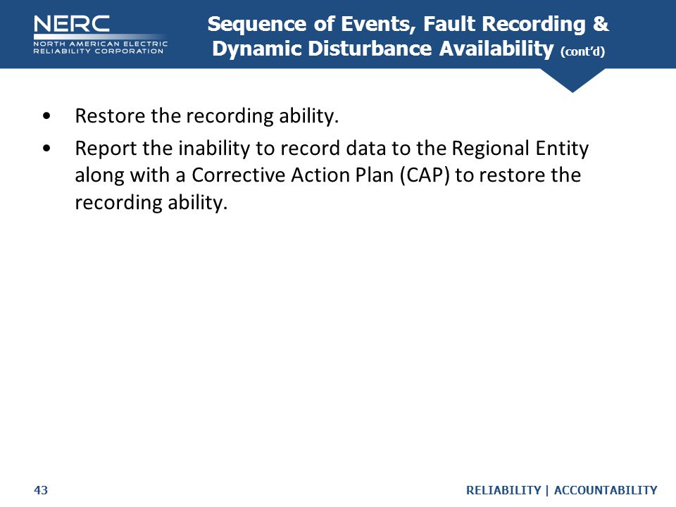 Sequence of Events, Fault Recording & Dynamic Disturbance Availability (cont'd)