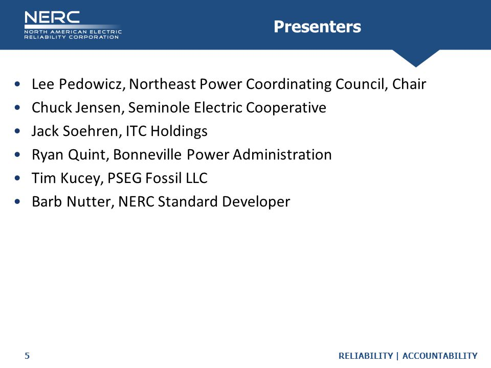 Lee Pedowicz, Northeast Power Coordinating Council, Chair