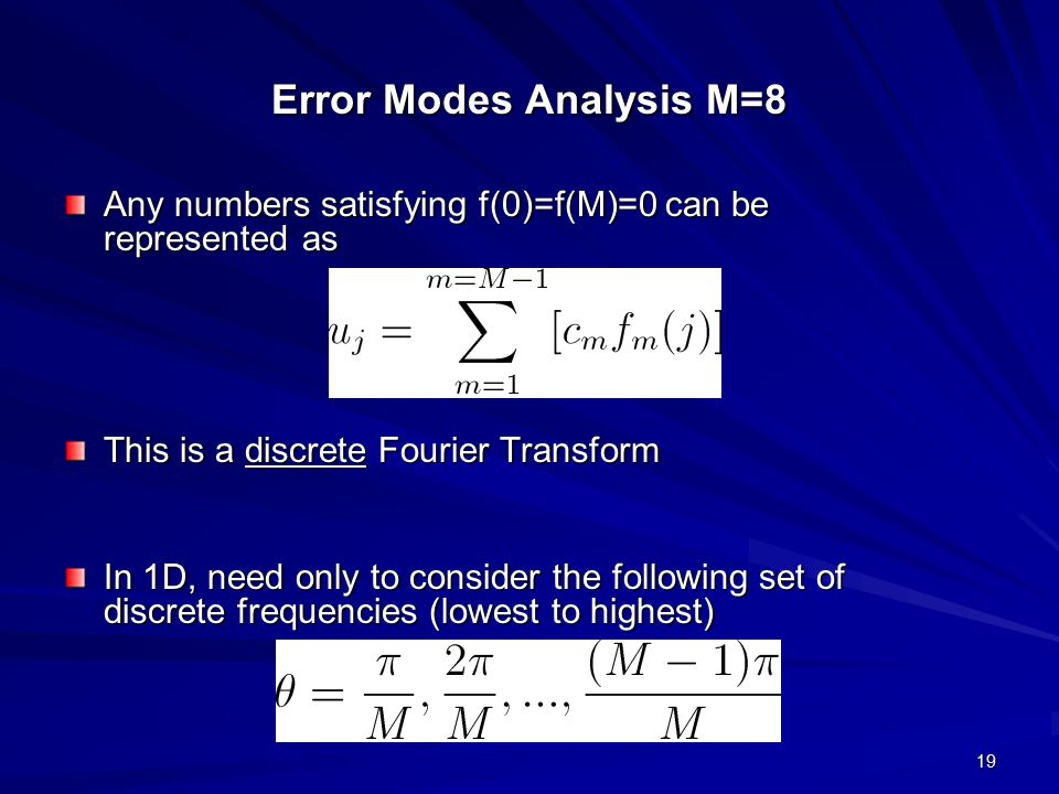 Error Modes Analysis M=8