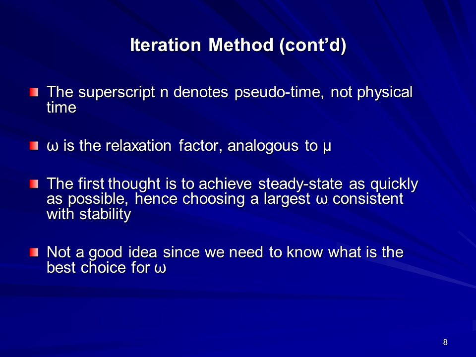 Iteration Method (cont'd)