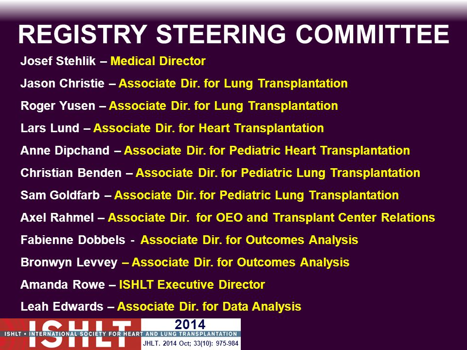 REGISTRY STEERING COMMITTEE