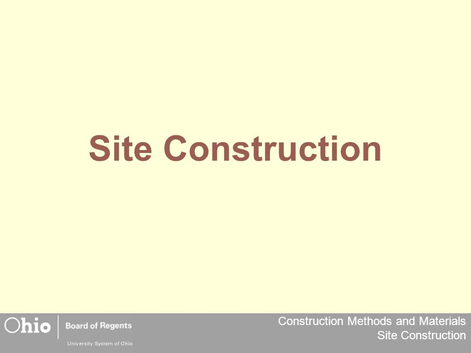 Site Construction