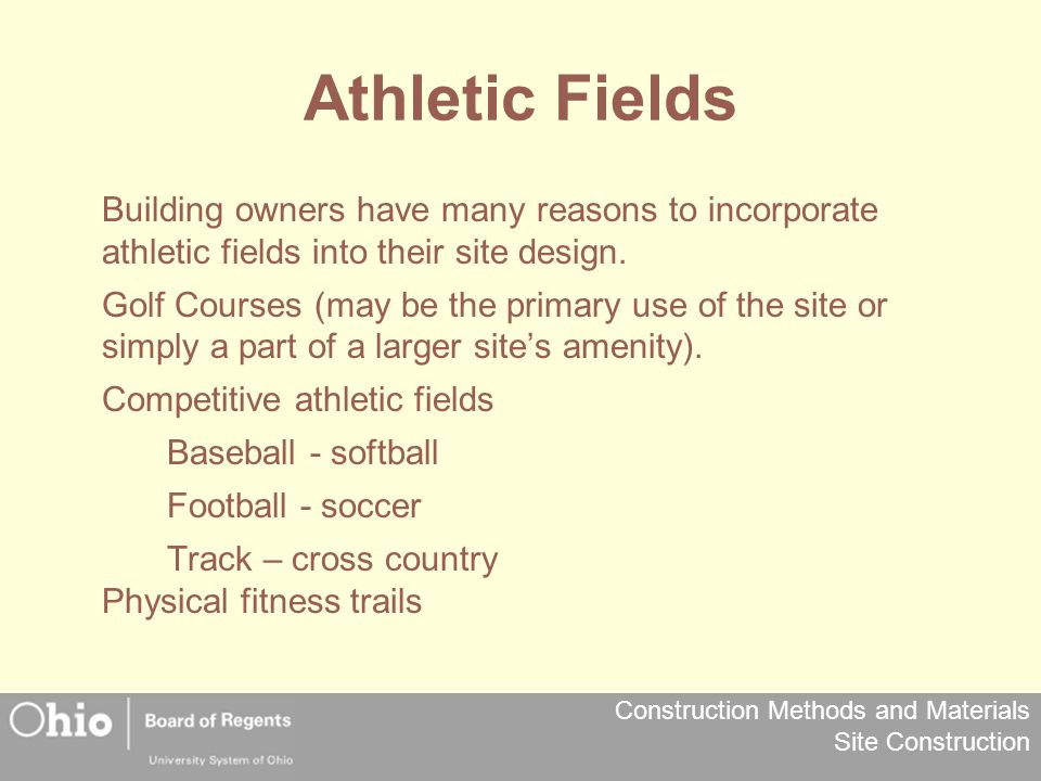 Athletic Fields Building owners have many reasons to incorporate athletic fields into their site design.
