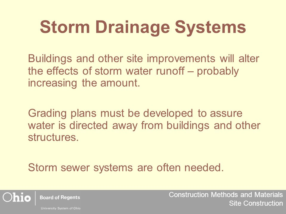 Storm Drainage Systems