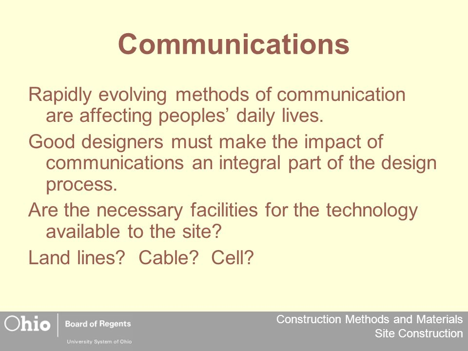 Communications Rapidly evolving methods of communication are affecting peoples' daily lives.
