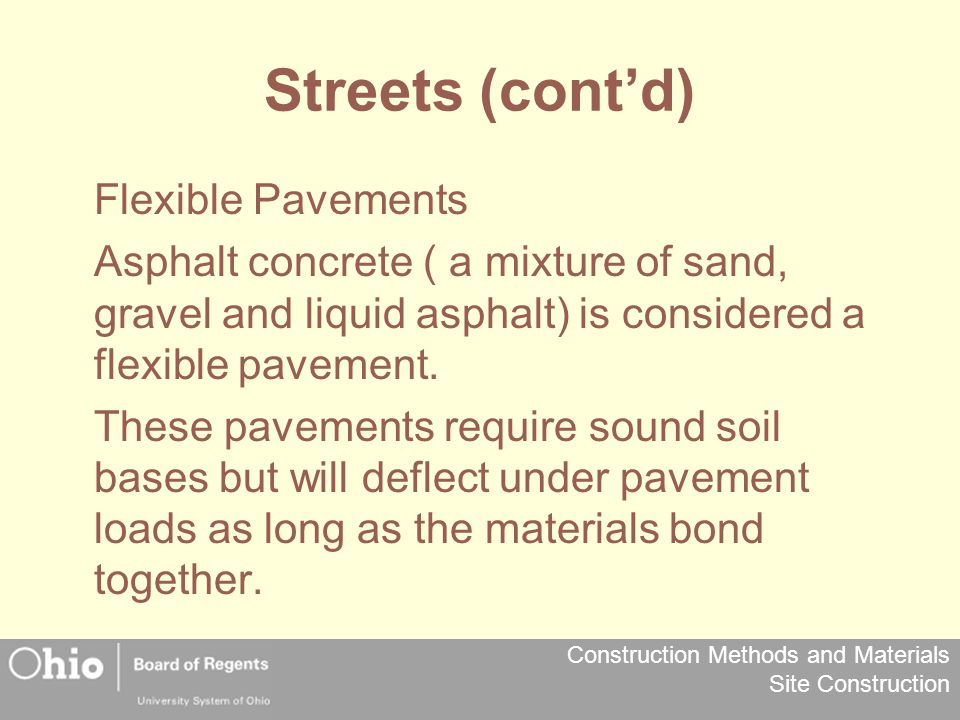 Streets (cont'd) Flexible Pavements