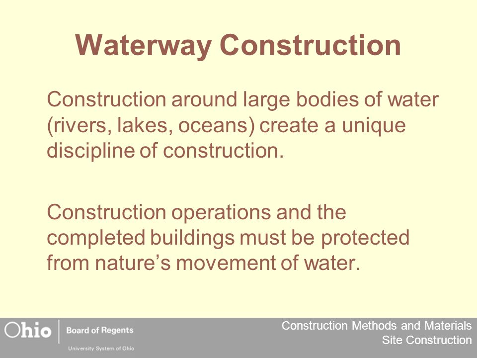 Waterway Construction