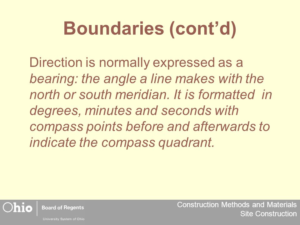 Boundaries (cont'd)