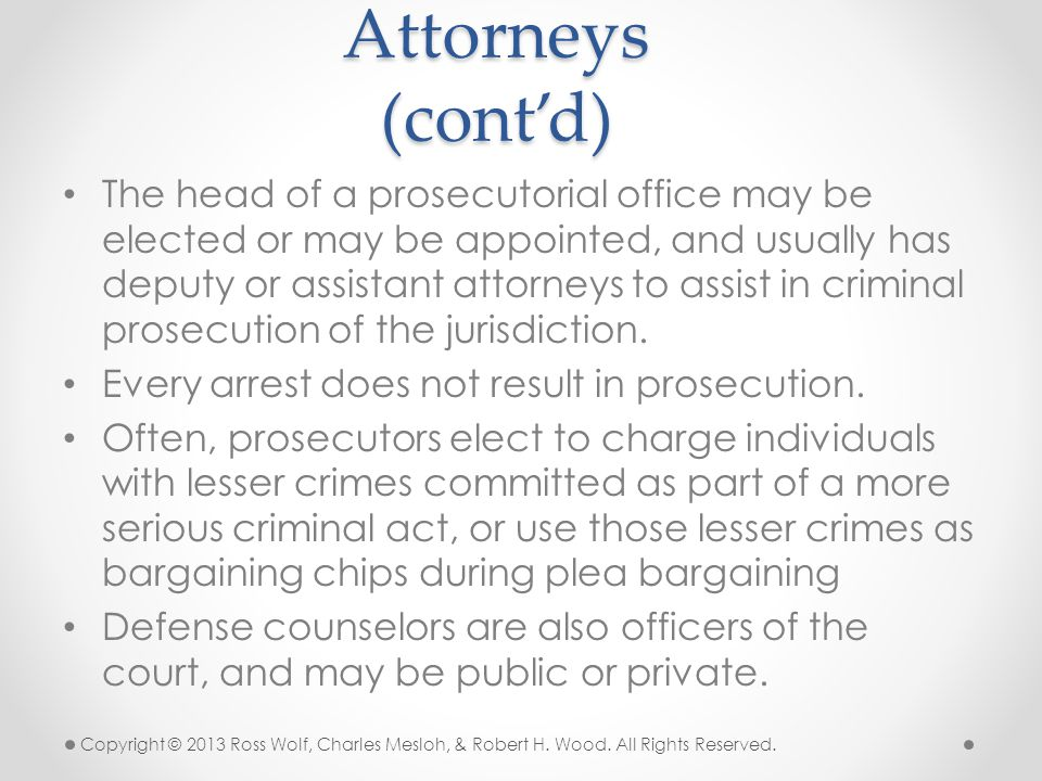 Attorneys (cont'd)