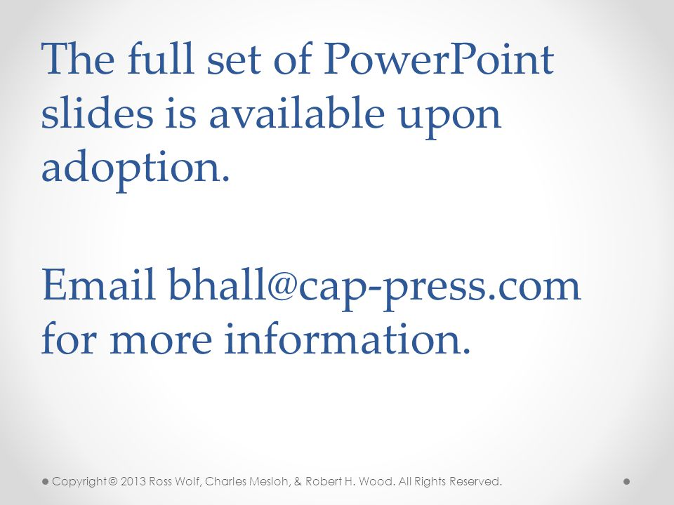 The full set of PowerPoint slides is available upon adoption.