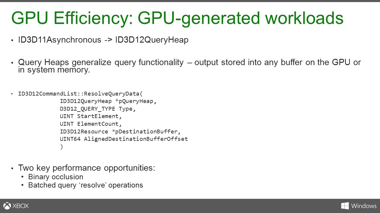 GPU Efficiency: GPU-generated workloads