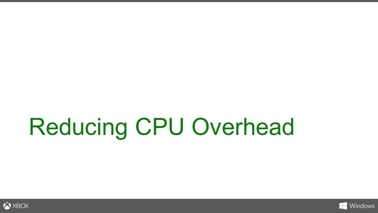 Reducing CPU Overhead