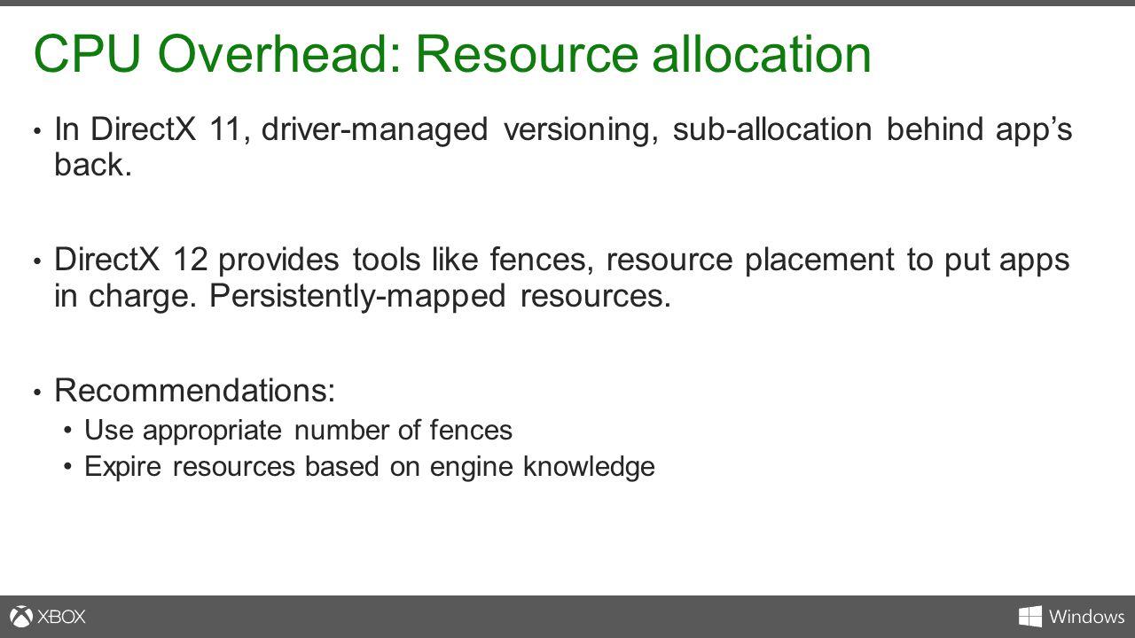 CPU Overhead: Resource allocation