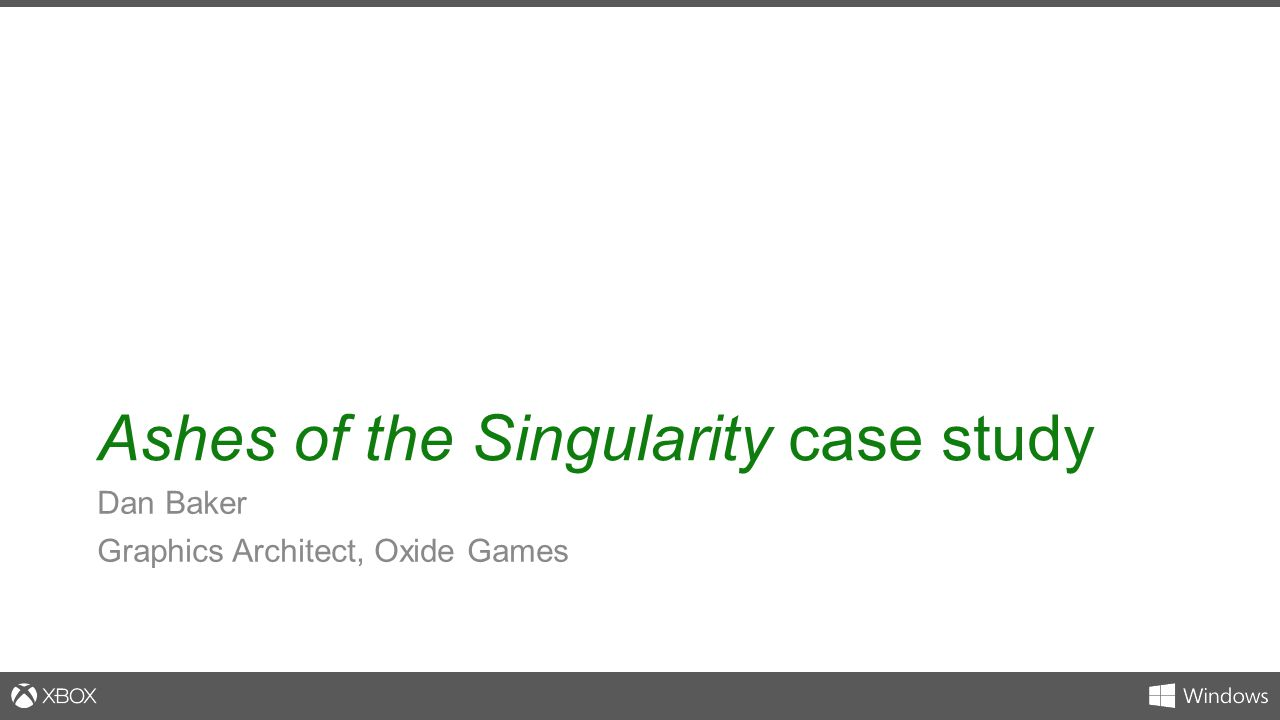 Ashes of the Singularity case study