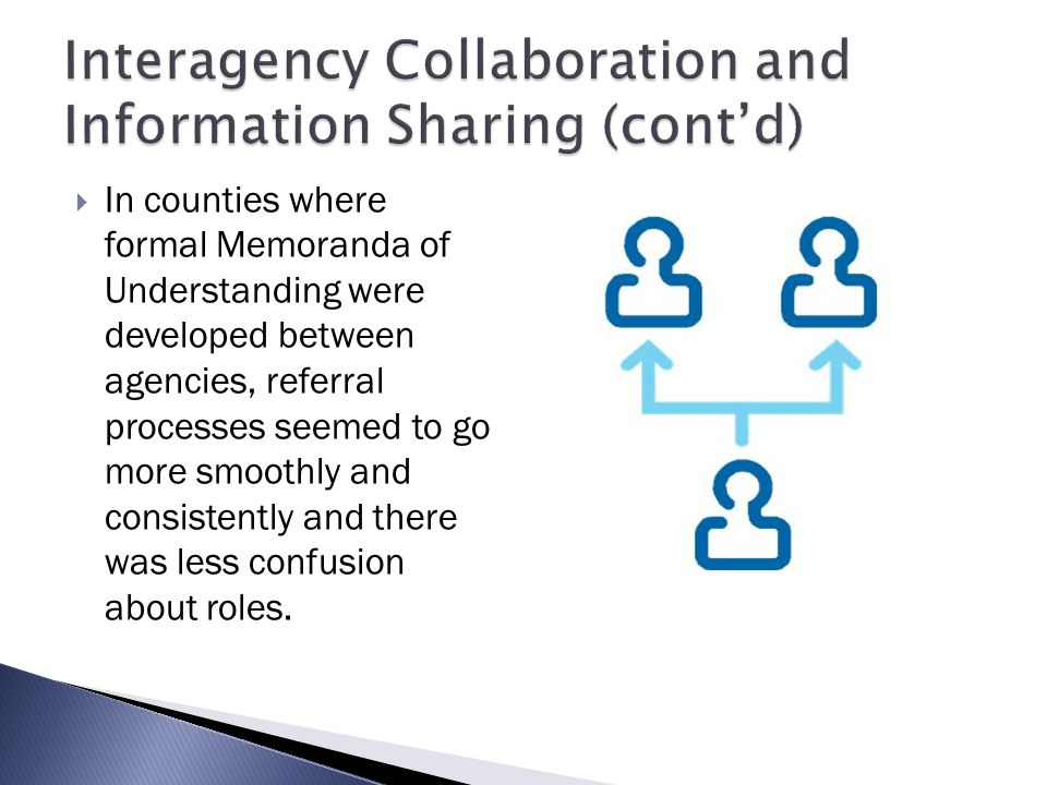 Interagency Collaboration and Information Sharing (cont'd)