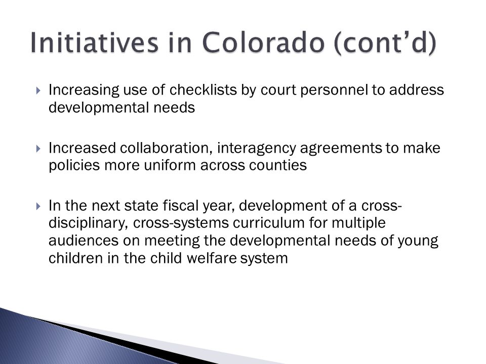 Initiatives in Colorado (cont'd)