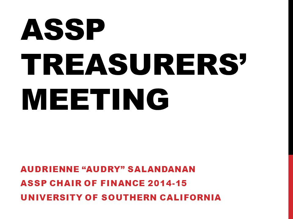ASSP Treasurers' Meeting
