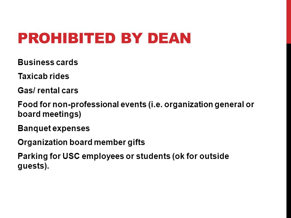 Prohibited by Dean