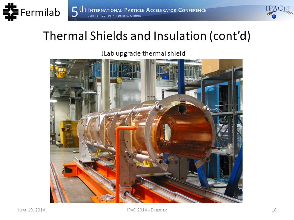 Thermal Shields and Insulation (cont'd)