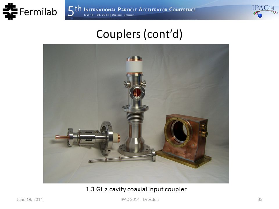 1.3 GHz cavity coaxial input coupler