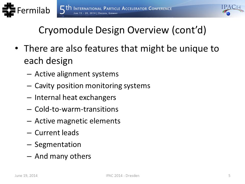 Cryomodule Design Overview (cont'd)