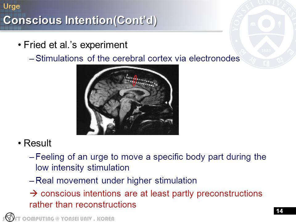 Conscious Intention(Cont'd)