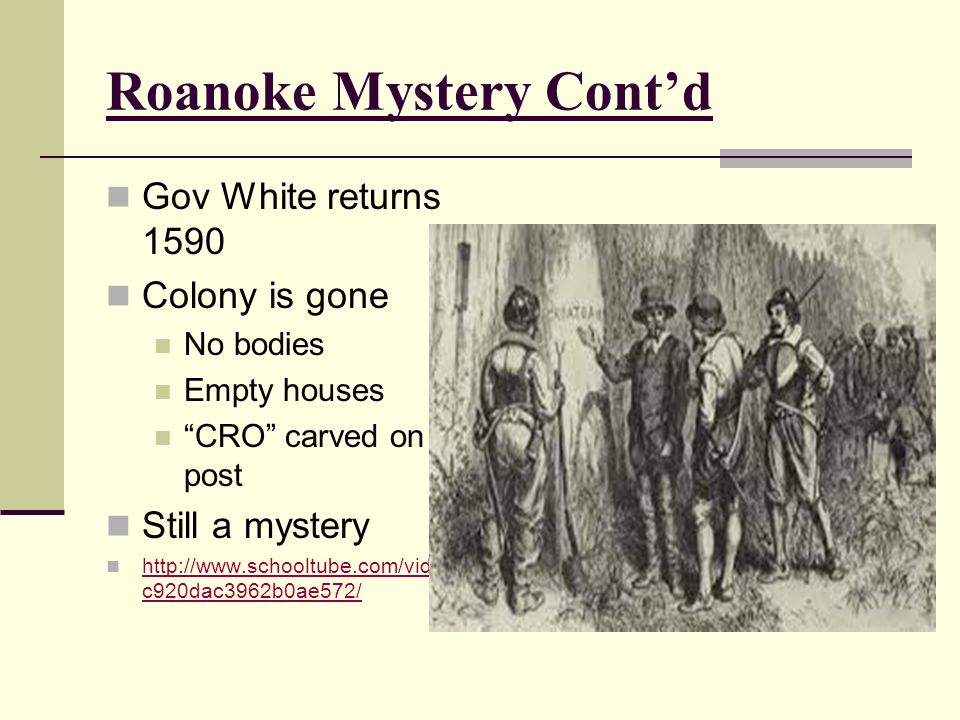 Roanoke Mystery Cont'd