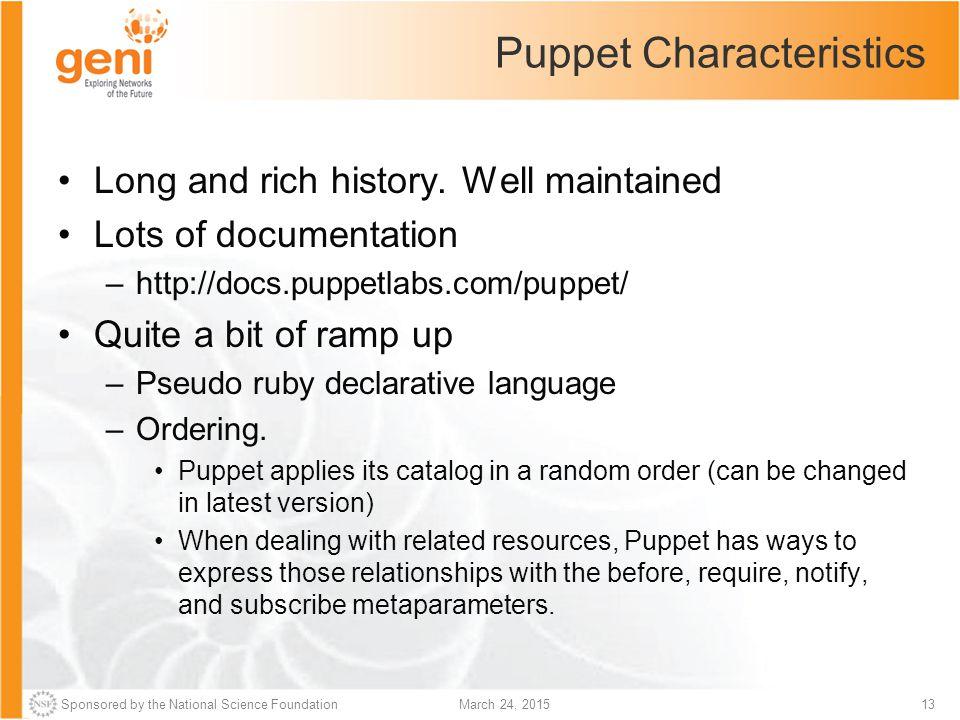 Puppet Characteristics